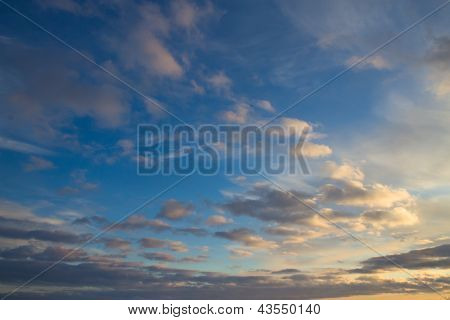Colorful Cloudy Sky Background
