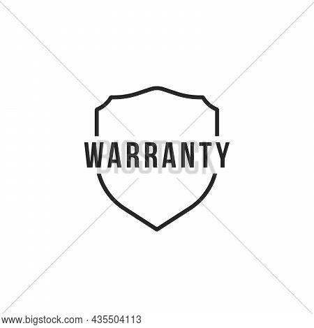 Thin Line Simple Shield Like Warranty Icon. Flat Linear Trend Modern Honor Logotype Graphic Design I