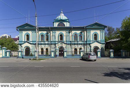 Irkutsk, Russia - August 28, 2021: Irkutsk Synagogue. Karl Liebknecht Street, 23. Sunny Day In Augus