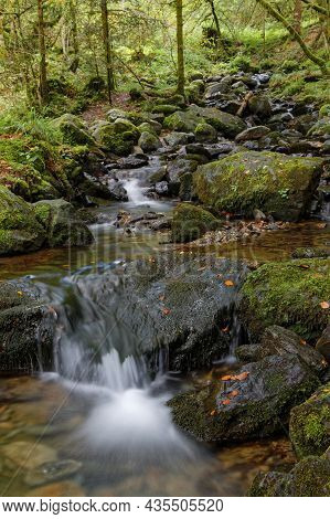 Small Cascades On A Creek Of Belledonne Mountain Range, Taken At Low Speed
