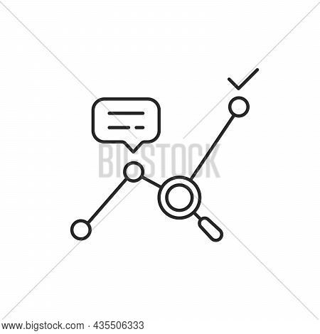 Thin Line Big Data Analytics Or Kpi Icon. Concept Of Statistics Analysis Process And Business Produc