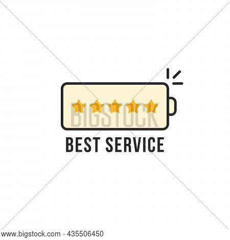 Linear Simple Battery Like Best Service. Stroke Flat Style Trend Modern Logotype Graphic Art Design