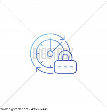 Change Password Gradient Linear Vector Icon. Data Protection. Internet Safety Measures. Password Man