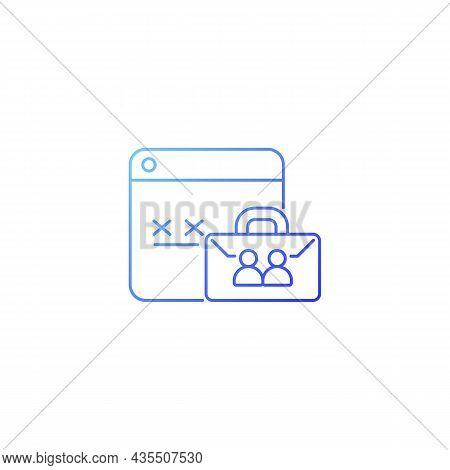 Corporate Password Gradient Linear Vector Icon. Internet Safety For Enterprise. Password Management
