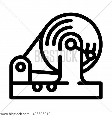 Testing Equipment Electromagnetic Line Icon Vector. Testing Equipment Electromagnetic Sign. Isolated