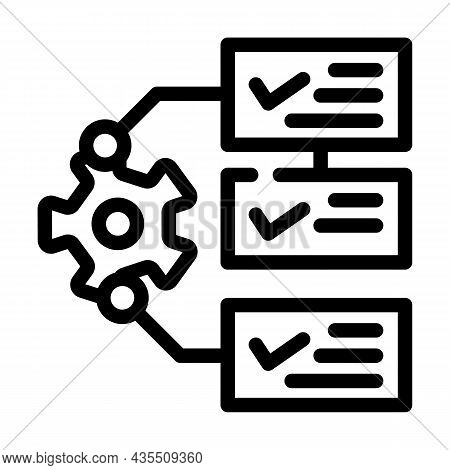 System Monitoring Line Icon Vector. System Monitoring Sign. Isolated Contour Symbol Black Illustrati