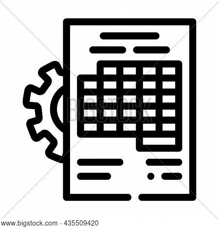 Accounting Working Process Erp Line Icon Vector. Accounting Working Process Erp Sign. Isolated Conto