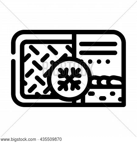 Meat Pie Frozen Dish Line Icon Vector. Meat Pie Frozen Dish Sign. Isolated Contour Symbol Black Illu
