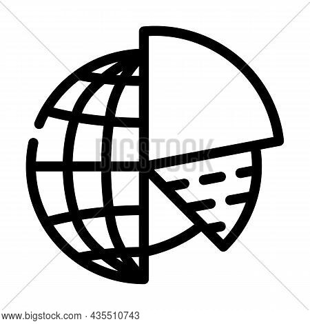 Analytics Globalization Line Icon Vector. Analytics Globalization Sign. Isolated Contour Symbol Blac