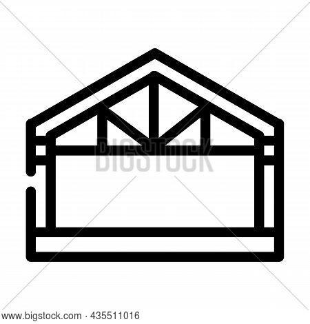 Garage Metal Frame Line Icon Vector. Garage Metal Frame Sign. Isolated Contour Symbol Black Illustra