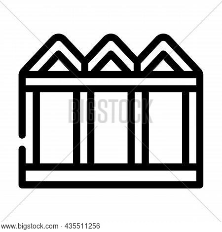 Construction Metallic Material Frame Line Icon Vector. Construction Metallic Material Frame Sign. Is