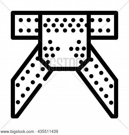 Metal Structure Construction Part Line Icon Vector. Metal Structure Construction Part Sign. Isolated
