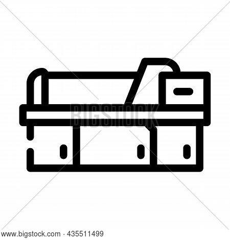Metal Material Part Production Factory Machine Line Icon Vector. Metal Material Part Production Fact