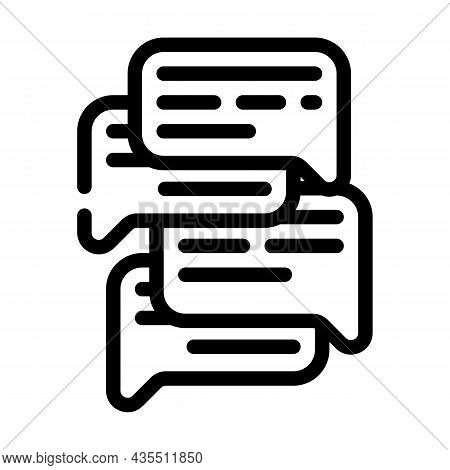 Talk And Discuss Line Icon Vector. Talk And Discuss Sign. Isolated Contour Symbol Black Illustration