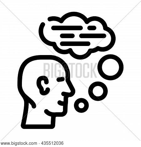 Speaking Human Line Icon Vector. Speaking Human Sign. Isolated Contour Symbol Black Illustration