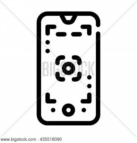 Macro Photography Phone Camera Line Icon Vector. Macro Photography Phone Camera Sign. Isolated Conto