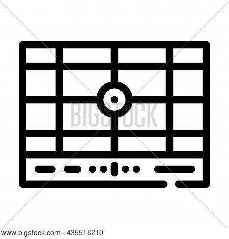 Dividing Grid Line Icon Vector. Dividing Grid Sign. Isolated Contour Symbol Black Illustration