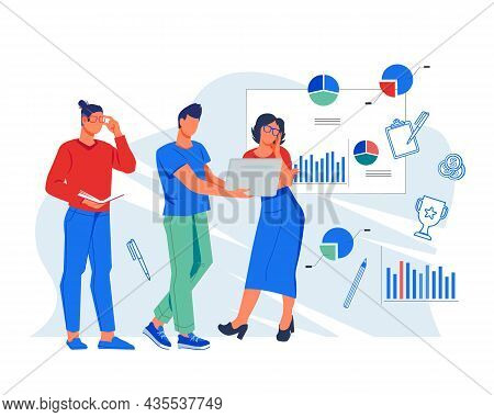 Data Collection And Marketing Analysis Business Concept. Team Of Analytics Or Business Partners Are