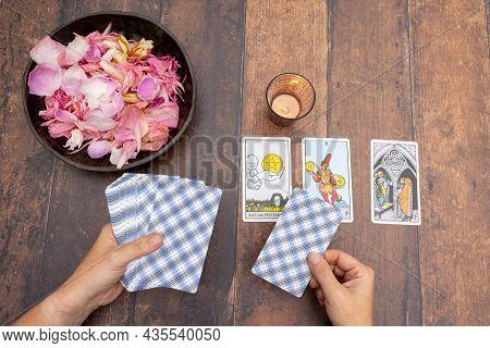 15th Of September, 2021, Antwerp, Belgium, Magical Scene, Esoteric Concept, Fortune Telling, Tarot C