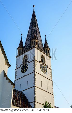Renovated Old Historical Building Of Lutheran Cathedral Of Saint Mary (catedrala Evanghelica Sfanta