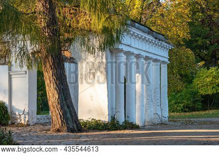 Old Ancient Ruins In The Park Alexandria, Ukraine, Bila Tserkva.