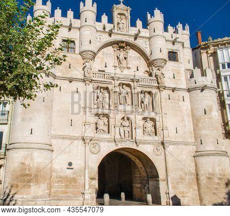 Fourteenth-century Arch Of Santa Maria In Burgos, Spain