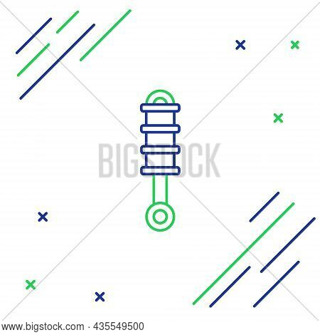 Line Shock Absorber Icon Isolated On White Background. Colorful Outline Concept. Vector
