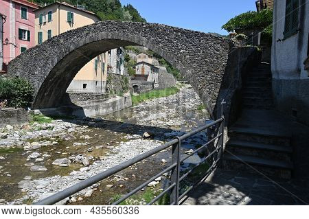 View Of The Romanesque Bridge, Or Of The Grecino, On The Vara River