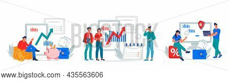 Business People Or Financial Analysts, Company Employees Or Entrepreneurs For Marketing And Financia