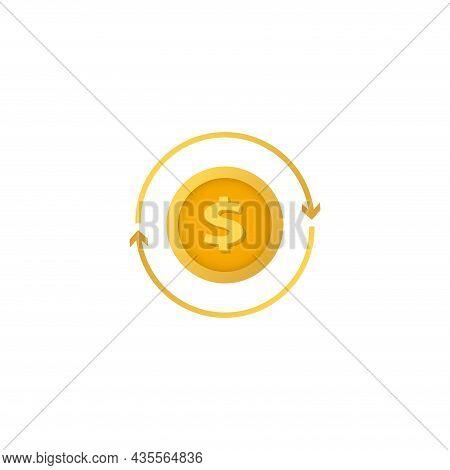 Exchange Clipart On White Background. Exchange Flat Icon.