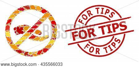 Forbid Asking Hand Mosaic Icon Designed For Fall Season, And For Tips Rubber Stamp. Vector Forbid As