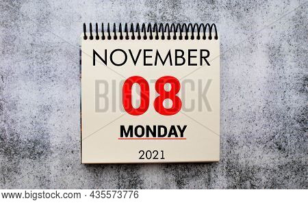 Save The Date Written On A Calendar - November 8