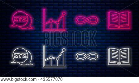 Set Line Sigma Symbol, Function Mathematical Symbol, Calculator And Equation Solution. Glowing Neon