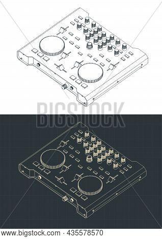 Dj Controller Isometric Blueprints