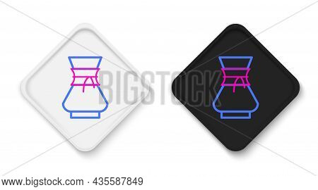 Line Pour Over Coffee Maker Icon Isolated On White Background. Alternative Methods Of Brewing Coffee