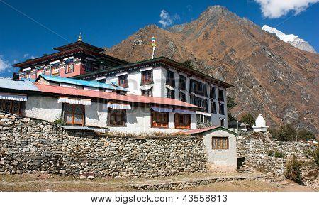 Tengboche - Buddhist Tibetan Monastery in Khumbu, Mont Everest region, Nepal. Sagarmatha National Park poster