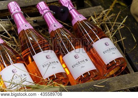 Volzhsky, Russia-september 21, 2021: Eugene Iii Champagne Brand Is Named After The Pope, Who Was At