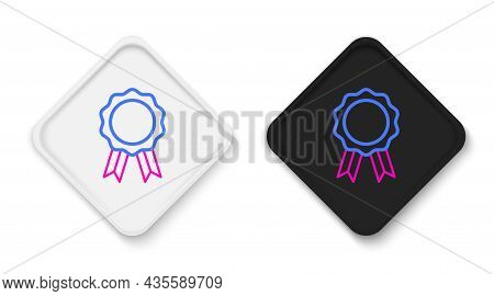 Line Online Education With Diploma Icon Isolated On White Background. Diploma Online At Home. Webina