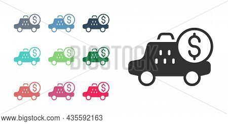 Black Taximeter Device Icon Isolated On White Background. Measurement Appliance For Passenger Fare I