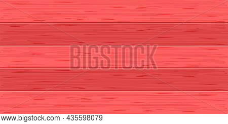 Wood Plank, Red Plank Board Pastel Color For Background, Wooden Horizontal Plank, Empty Wood Plank B