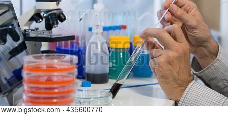 Chemical Laboratory. Control the amount of nitrates, herbicides and pesticides