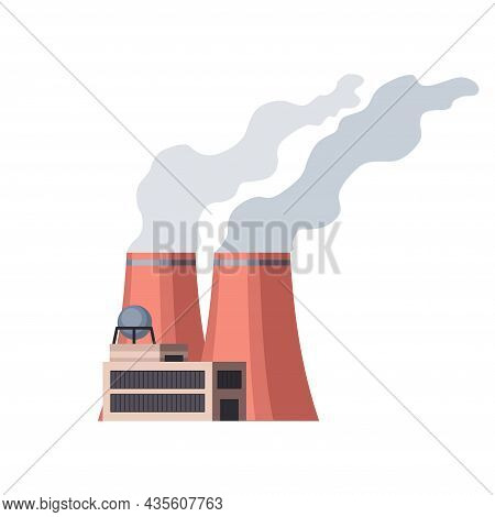 Factory Industrial. Manufactory Industrial Building Refinery Factory Or Nuclear Power Station. Compl