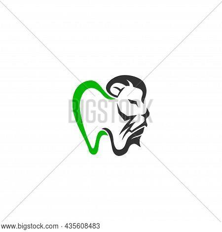 Lion Dental Care Illustration Emblem Mascot Design Template