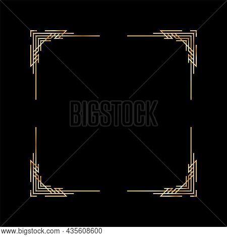 Art Deco Frame. Artwork Graphic Pattern. Creative Template Of Wedding Invintation Background. Vintag