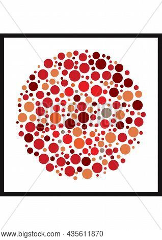 Vector Graphic Of Ishihara Color Test Or Color Blind Test Design. The Letter Q Cunningly Hid Inside