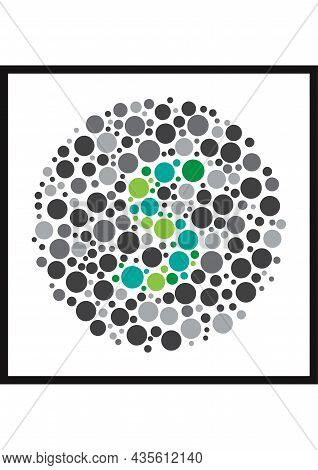 Vector Graphic Of Ishihara Color Test Or Color Blind Test Design. The Letter S Cunningly Hid Inside