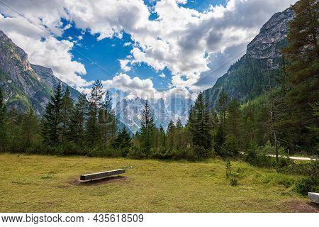 Mountain Peak Of Monte Cristallo, North Face 3221 M., Val Di Landro (landro Valley). Sesto Dolomites