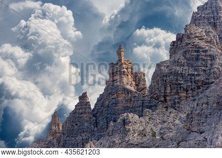 Mountain Ridge Of Monte Paterno Or Paternkofel, Natural Park Of Tre Cime Di Lavaredo Or Drei Zinnen,
