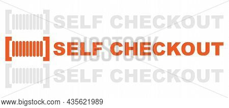 Self Checkout Vector Illustration On A White Background