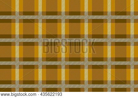 Brown And White Scotland Textile Seamless Pattern. Fabric Texture Check Tartan Plaid. Abstract Geome